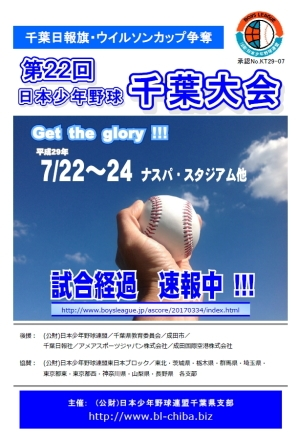 千葉日報杯・ウィルソンカップ争奪 第22回千葉大会